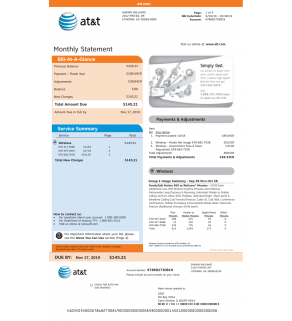 Wireless Bill, AT&T