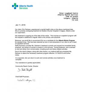 Medical Discharge, Alberta Health