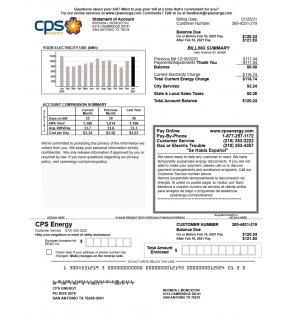 Energy Bill, CPS Energy