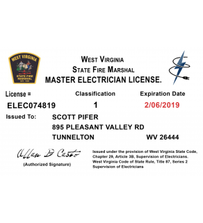 Trade License, Card