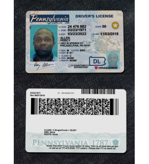 License Snapshot, Front w/Scannable Back