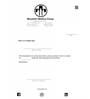 Clinic Note,Medical Group