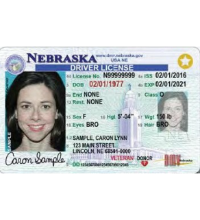Nebraska Driver's License, Novelty (Enhanced)