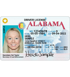 Alabama Driver's License, Enhanced (Novelty)