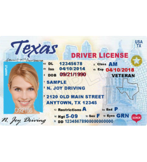 Texas Driver's License, Enhanced (Novelty)
