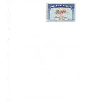 SSN Card, Scanned