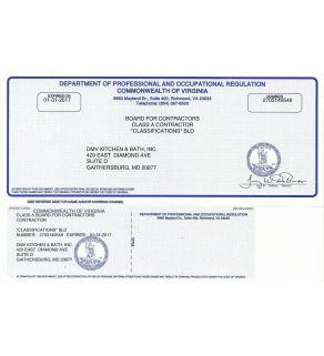 Business License, Contractor's