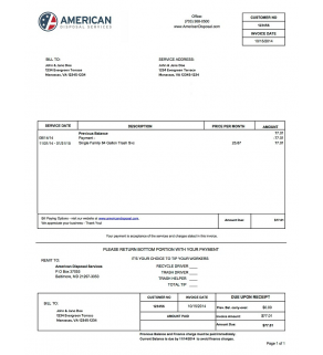 Sanitation, American Disposal Services