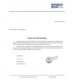 Letter, Credit Letter