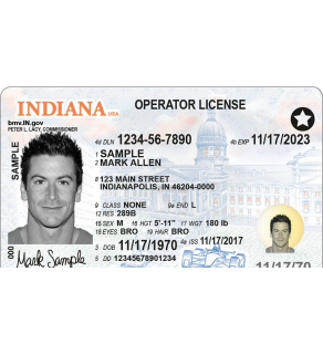Indiana Driver's License, Novelty