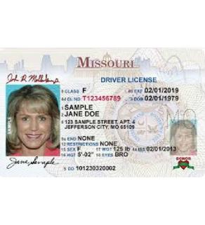 Missouri Driver's License, Novelty
