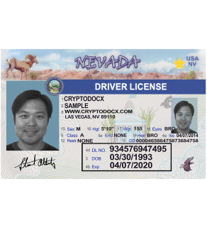 Nevada Driver's License, Novelty(Enhanced)