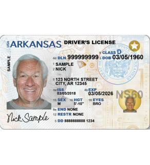 Arkansas Driver's License, Novelty