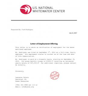 Letter, Job Offer
