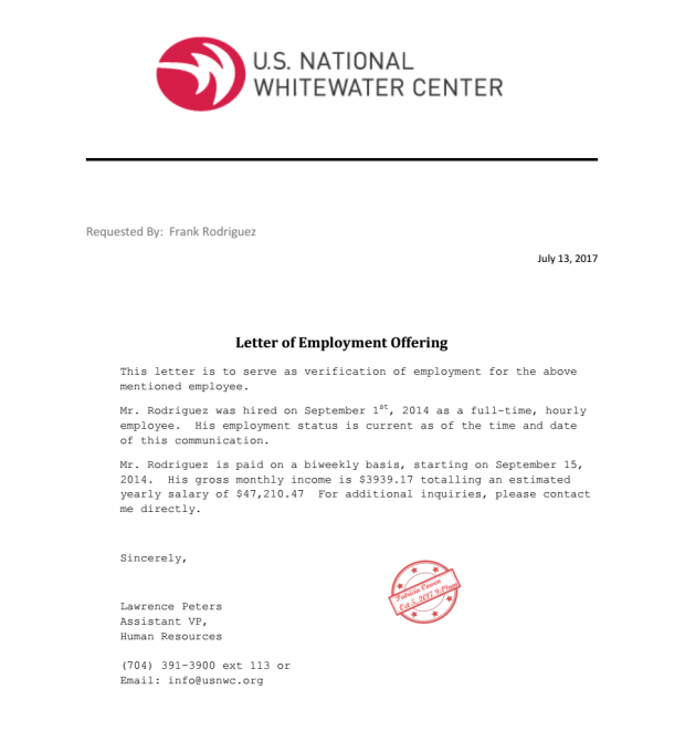 Letter Of Employment Offer from www.doc-store.com