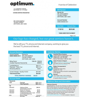 Cable Bill, Optimum