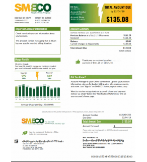 Utility Statement, SMECO