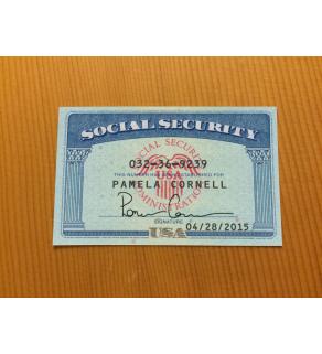 SSN Card, Front Snapshot