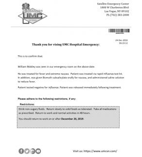 Note, UMC Hospital