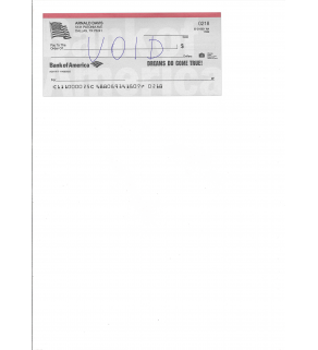 Voided Check, Scanned