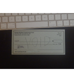 Voided Check, Snapshot
