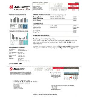Energy Bill, Xcel Energy
