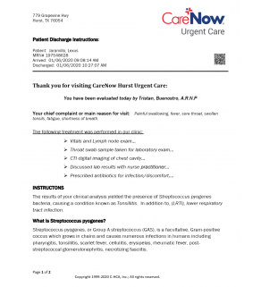 Urgent Care, Carenow