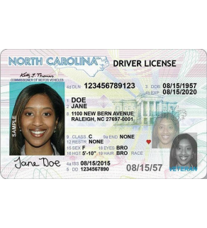 North Carolina Driver's License, Novelty